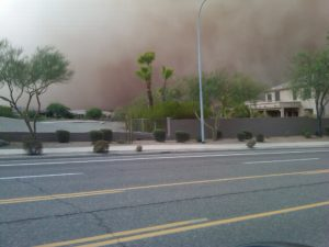 Dust Storm in Phoenix, AZ